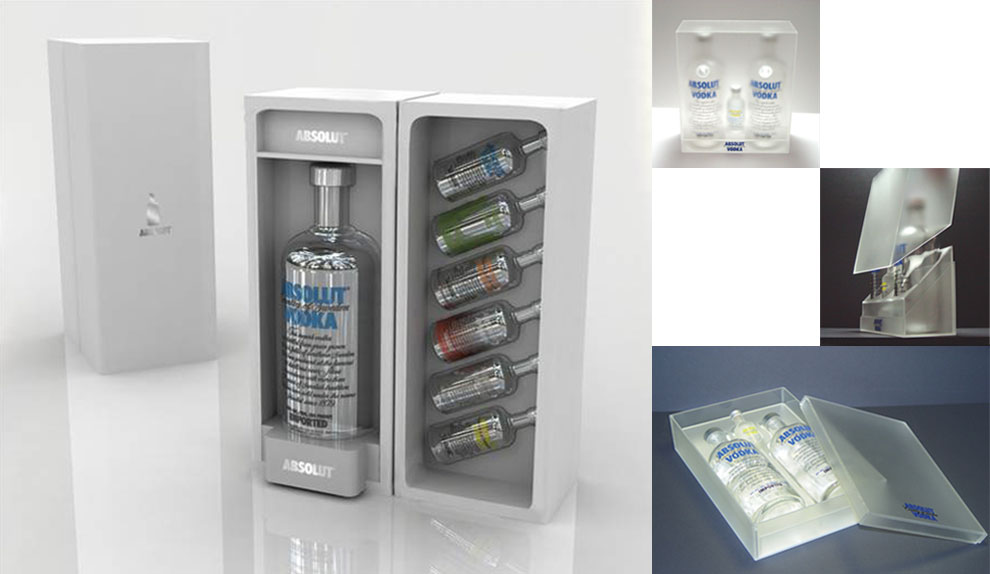 ABSOLUTE VODKA Gift Set Package